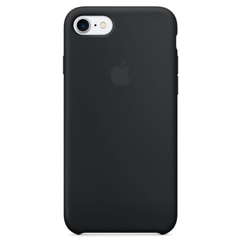 Apple Black Silicone Kryt iPhone 7/8