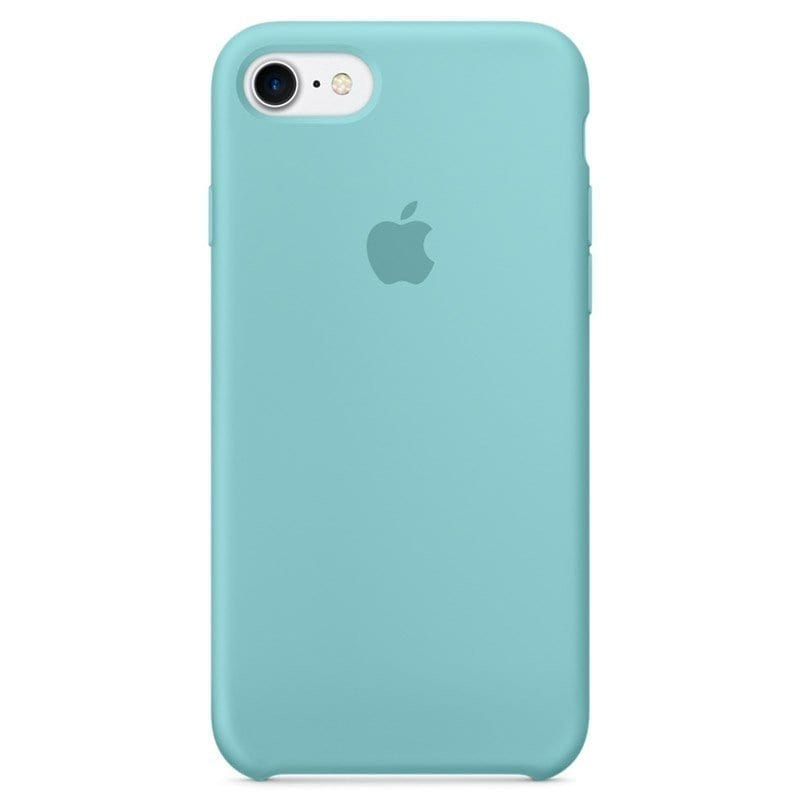 Apple Sea Blue Silicone Kryt iPhone 8/7/SE 2 2020