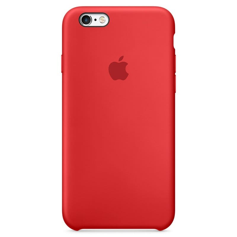 Apple Red Silicone Kryt iPhone 6/6S