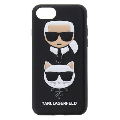 Karl Lagerfeld Karl and Choupette Black Kryt iPhone 6/6S/7/8