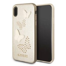 Guess Studs And Sparkle Beige Kryt iPhone X/XS