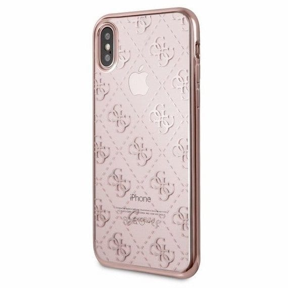 Guess 4G Charms Brown Kryt iPhone X/XS