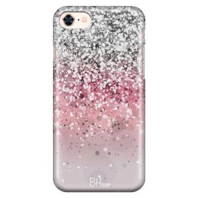 Glitter Pink Silver Kryt iPhone 8/7/SE 2 2020