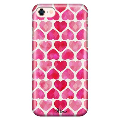 Hearts Pink Kryt iPhone 8/7/SE 2 2020