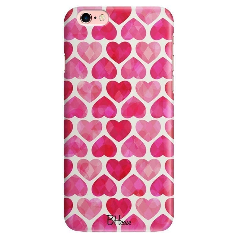 Hearts Pink Kryt iPhone 6/6S