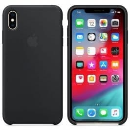 Apple Black Silicone Kryt iPhone XS Max