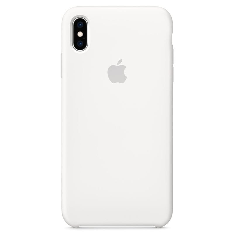 Apple White Silicone Kryt iPhone XS Max
