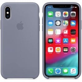 Apple Lavender Gray Silicone Kryt iPhone XS