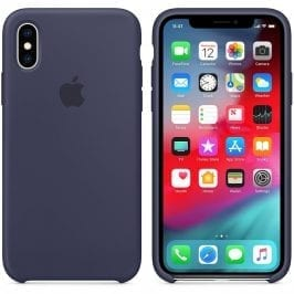 Apple Midnight Blue Silicone Kryt iPhone XS