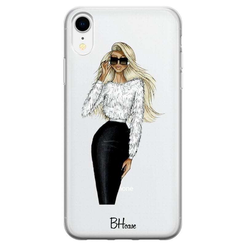 Blonde High Fashion Girl Kryt iPhone XR