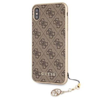 Guess Charms 4G Brown Kryt iPhone XS Max