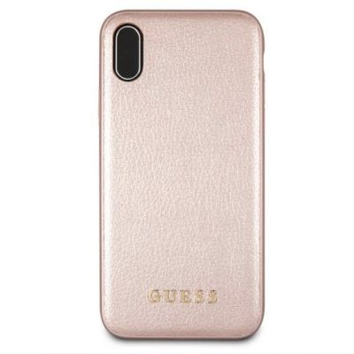 Guess Iridescent Rose Gold Kryt iPhone XR