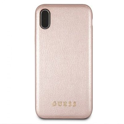 Guess Iridescent Rose Gold Kryt iPhone XS Max
