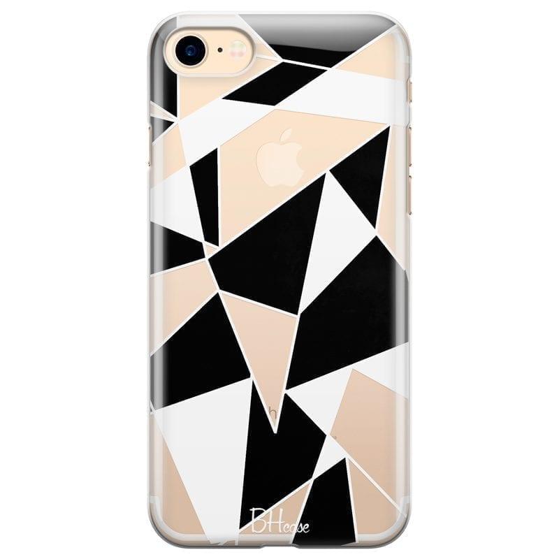 Black White Geometric Kryt iPhone 7/8