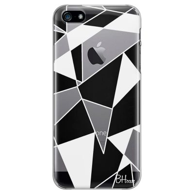Black White Geometric Kryt iPhone SE/5S