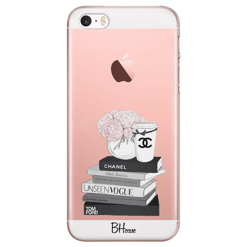 Chanel Vogue Books Kryt iPhone SE 5S  96a4bfc6b28