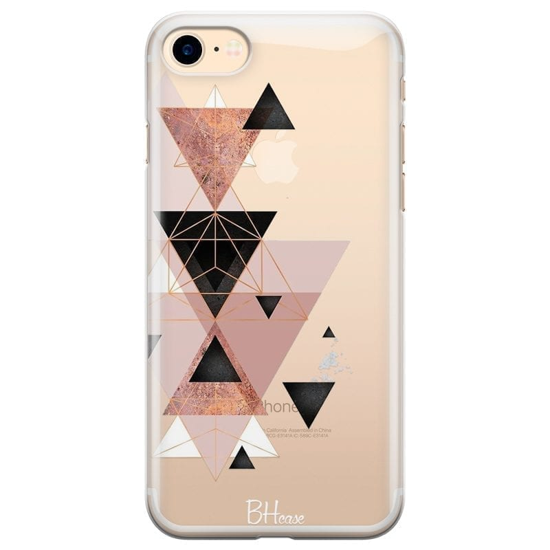 Geometric Pink Kryt iPhone 7/8