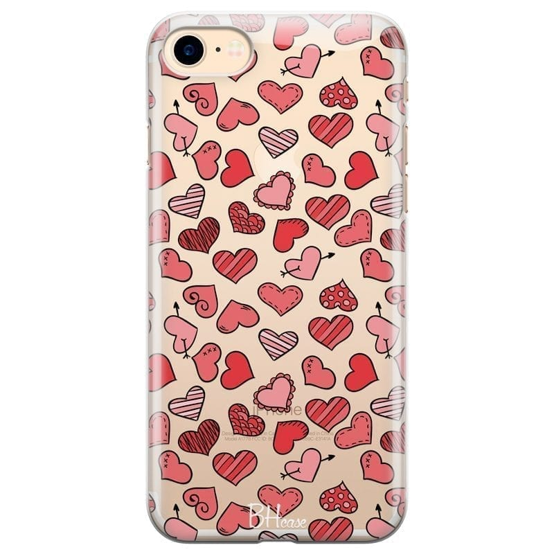 Hearts Red Kryt iPhone 7/8