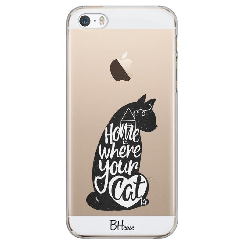 Home Is Where Your Cat Is Kryt iPhone SE/5S