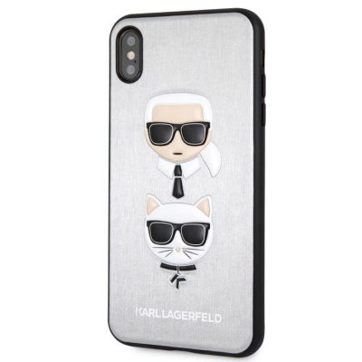 Karl Lagerfeld Karl And Choupette Silver Hard Kryt iPhone XS Max