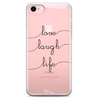 Love Laugh Life Kryt iPhone 8/7/SE 2 2020