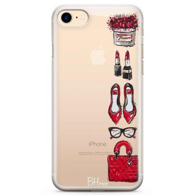 Red Fashion Kryt iPhone 7/8