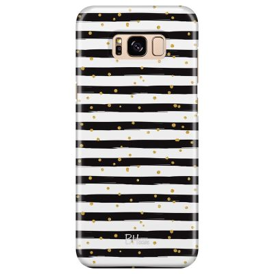 Stripes Gold Black White Kryt Samsung S8