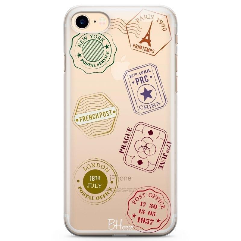 Travel Stamps Kryt iPhone 7/8
