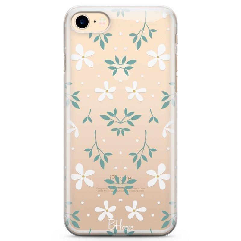 White Floral Kryt iPhone 7/8
