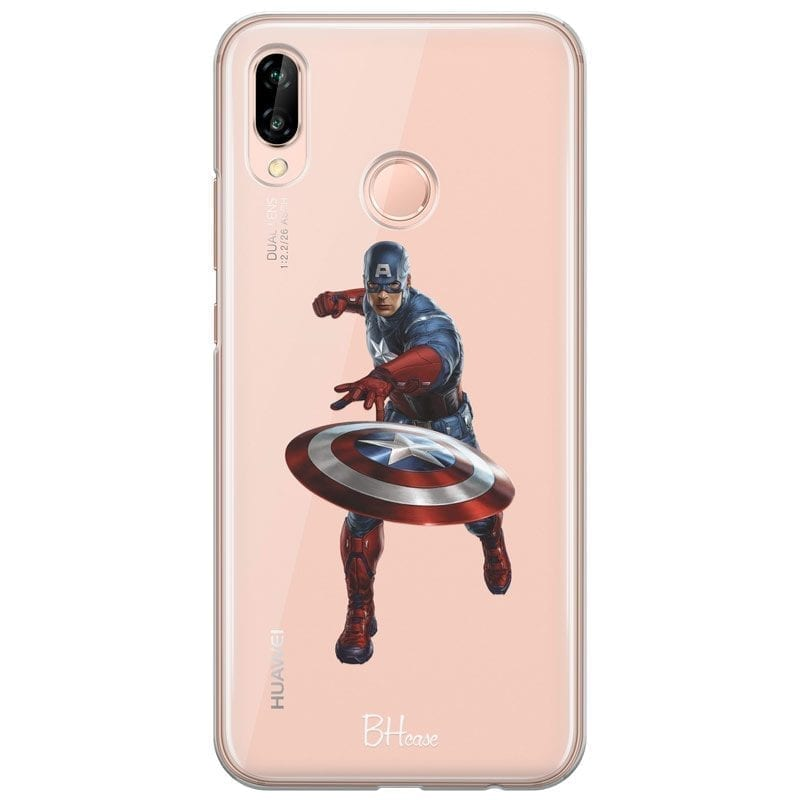 Captain America Kryt Huawei P20 Lite
