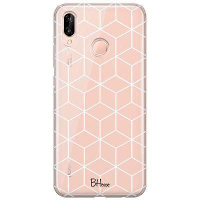 Cubic Grid Kryt Huawei P20 Lite
