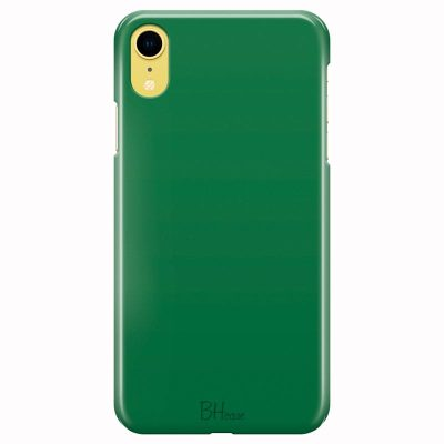 Dark Spring Green Color Kryt iPhone XR