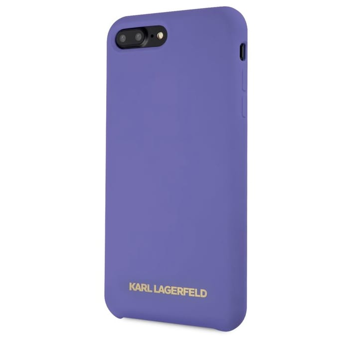Karl Lagerfeld Gold Logo Silicone Purple Kryt iPhone 8 Plus/7 Plus/6S Plus/6 Plus