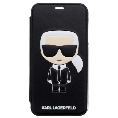 Karl Lagerfeld Ikonic Black Book Kryt iPhone XS Max