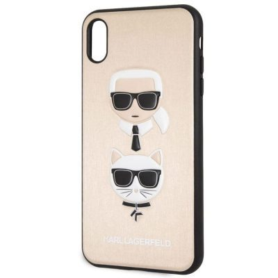 Karl Lagerfeld Karl And Choupette Gold Hard Kryt iPhone XS Max