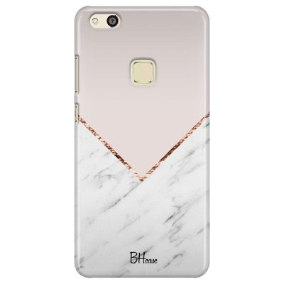 Marble And Pink Color Kryt Huawei P10 Lite