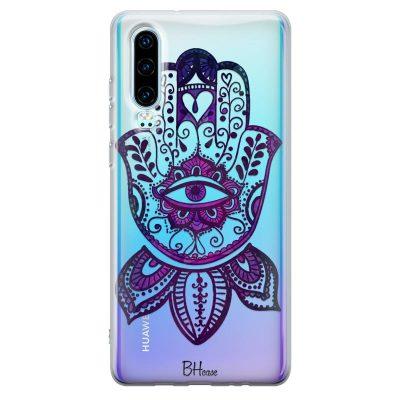 Bohemian Purple Hand Kryt Huawei P30