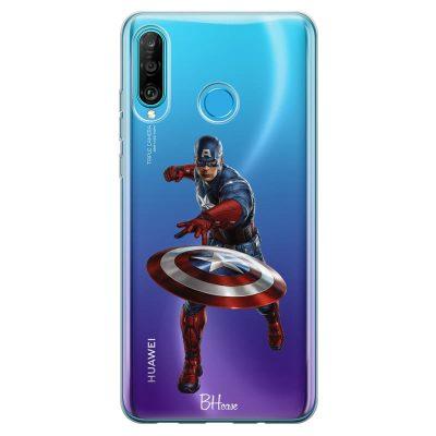 Captain America Kryt Huawei P30 Lite