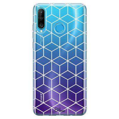 Cubic Grid Kryt Huawei P30 Lite