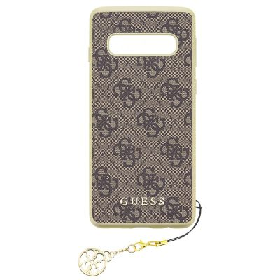 Guess Charms 4G Brown Kryt Samsung S10