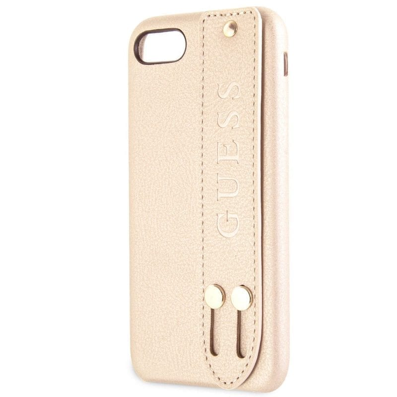 Guess Saffiano Strap Beige Kryt iPhone 8/7