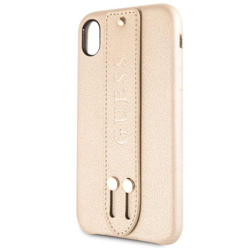 Guess Saffiano Strap Beige Kryt iPhone X/XS