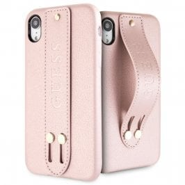 Guess Saffiano Strap Rose Kryt iPhone XR
