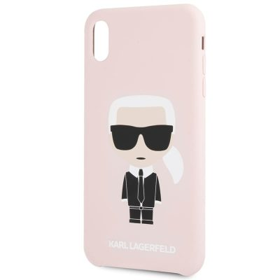 Karl Lagerfeld Ikonic Full Body Silicone Pink Kryt iPhone XR