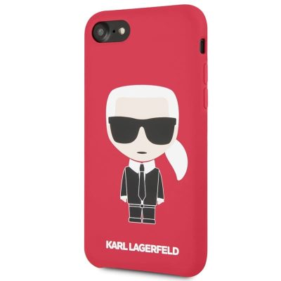 Karl Lagerfeld Ikonic Full Body Silicone Red Kryt iPhone 8/7/6/SE 2 2020