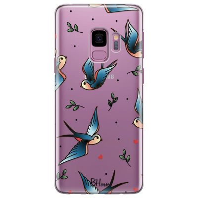 Birds Tattoo Kryt Samsung S9