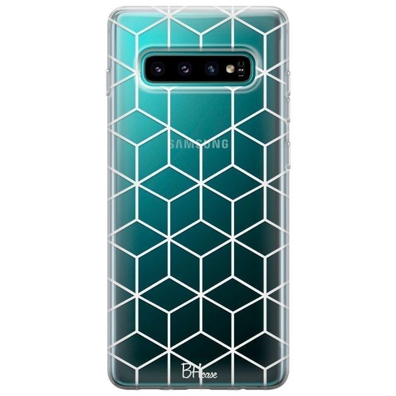 Cubic Grid Kryt Samsung S10 Plus