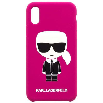 Karl Lagerfeld Ikonic Full Body Fushia Kryt iPhone X/XS