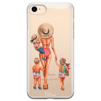 Beach Day Family Blonde Kryt iPhone 7/8