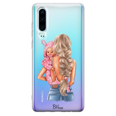 Mother Blonde With Girl Kryt Huawei P30